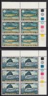 Montserrat MNH Scott #220-#223 Upper Right Corner Blocks Of 6: Dolphin Fish, Sailfish, Tuna, Mackerel - Montserrat