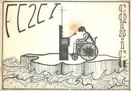 CARTE QSL . RADIO AMATEUR . CORSICA . GHISONACCIA . 1977. - Radio-amateur