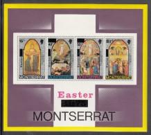 Montserrat MNH Scott #336a Souvenir Sheet Of 4 Paintings By Orcagna - Easter - Montserrat