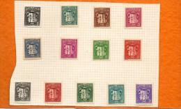 ANDORRE   13 Timbres   Année 1937-43   ( Neufs Avec Charnière) - Andorre Français