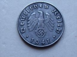 UNE PIECE  DE MONNAIE  D ALLEMAGNE III eme REICH  DE 10 REICHSPFENNIG  1941 D
