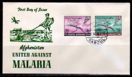 Anti Malaria 1961 Mi. 561-2 On FDC (A59) - Afghanistan