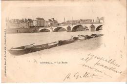 Corbeil (91) : Le Pont - CPA Précurseurs1902 - Corbeil Essonnes