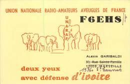 CARTE QSL . RADIO AMATEUR . UNION NATIONALE RADIO AMATEUR AVEUGLES DE FRANCE . 1977. - Radio Amateur
