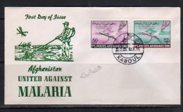Anti Malaria 1961 Mi. 561-2 On FDC (A60) - Afghanistan