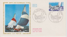 FDC  FRANCE JO DE MONTREAL 1976 VOILE - Estate 1976: Montreal