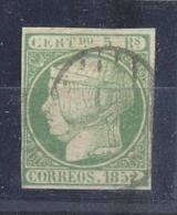 ESPAÑA EDIFIL Nº 15. 6 CUARTOS DE 1852  MATASELLADO PARRILLA NEGRA - Nuevos