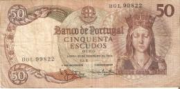 BILLETE DE PORTUGAL DE 50 ESCUDOS DEL AÑO 1964 DIFERENTES FIRMAS   (BANKNOTE) - Portugal