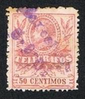 Ed. 43 Telégrafos 50 Cts. Usado - Telegramas