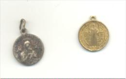 Lot De 2 Petites Médailles Religieuses (b139) - Religion & Esotérisme