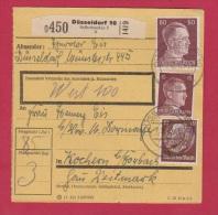 ALLEMAGNE  //  COLIS-POSTAL  //  DE DUSSELDORF 10   //  POUR KOCHERN   // 7/8/1943 - Allemagne