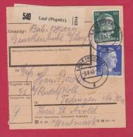ALLEMAGNE  //  COLIS-POSTAL  //  DE LAUF    //  POUR TEDING   // 9/8/1943 - Allemagne