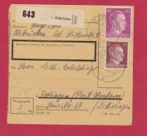 ALLEMAGNE  //  COLIS-POSTAL  //  DE OLSBRUCKEN    //  POUR TEDING   //  13/8/1943 - Allemagne