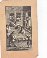 Tres Ancienne Gravure Ancetre Pompiers Secouriste Homme Qui Tendent Une Couverture Pour Sauver Un Homme Qui Saute - Estampes & Gravures