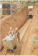 United Nations  1983  Copper Ore Trolly  Copper Mine  Maximum Card # 82103 - Minerals