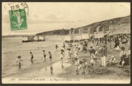 BOULOGNE Sur MER Rare La Plage Et Les Bains (LL) Pas De Calais (62) - Boulogne Sur Mer