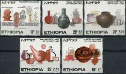 ETHIOPIE, PREHISTOIRE, RUPESTRES, Yvert N°553/57. MNH. ** - Prehistoria