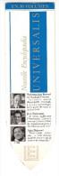 Marque Pages - Universalis - Nouelle Encyclopoedia ( Professeur Jean Bernard - Jean Boissonnat - Alain Duhamel - Marque-Pages