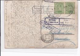 N°137(paire)Bourg-Leopold 10.IV.20 S/CP V.Molenbeek.griffes Inconnu à L'appel Rebut-retour à L'envoyeur.TB - Lettres & Documents