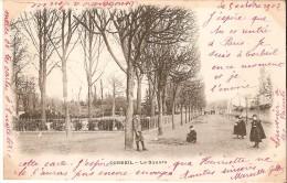 CORBEIL (91) : Le Square. CPA Précurseurs Animée. - Corbeil Essonnes