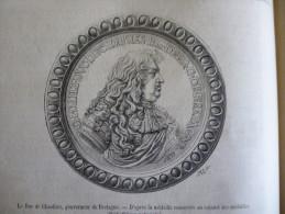 Le Duc De Chaulnes , Gouverneur De Bretagne , Gravure De 1880 Avec Texte - Historische Dokumente