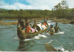 Guyane Française Et Hollandaise - Les Canotiers Sur Le Fleuve Maroni  (traces De Colle Au Verso) - Guyane