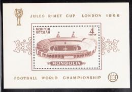 Mongolia MNH Scott #413 Souvenir Sheet 4t Wembley Stadium - Jules Rimet Cup Soccer Championship - Mongolie