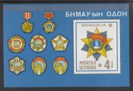 Mongolia MNH Scott #913 Souvenir Sheet 4t Sukhe Bator Medals - Mongolie