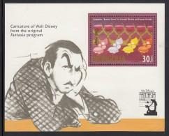 Mongolia MNH Scott #2035 Souvenir Sheet 30t Thistles And Orchids From 'Russian Dance' - Disney's 'Fantasia' 50th Ann - Mongolie