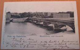 CPA Gruss Aus Diedenhofen Thionville Moselbrücke Und Lazareth - Thionville