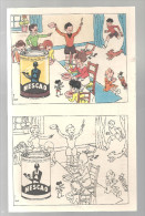 """Plaquette De Coloriage Offert Par """"Nescao"""" Le Lièvre Et La Tortue"""" Des Années 1950 - Nestlé"""