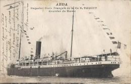 ABDA - PAQUEBOT POSTE FRANCAIS DE LA CIE PAQUET COURRIER DU MAROC - Tanger