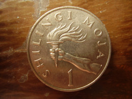TANZANIA 1974 ONE SHILLING NYERERE Copper-Nickel  USED COIN. - Tanzania