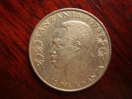 TANZANIA 1975 ONE SHILLING NYERERE Copper-Nickel  USED COIN. - Tanzania