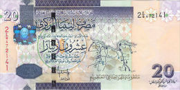 LIBYA 20 DINARS 2009  P 74 UNC - Libia
