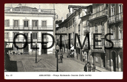 ABRANTES - PRAÇA RAIMUNDO SOARES - LADO NORTE - 1940 PC - Santarem