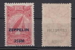 Brazil Brasil Mi# 366 ** MNH 2$500 Overprint Zeppelin 1931 - Unused Stamps