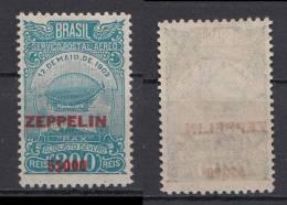 Brazil Brasil Mi# 367 * Mint 5$000 Overprint Zeppelin 1931 - Unused Stamps