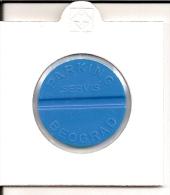 TOKEN JETON SERBIA - BEOGRAD ( Parking Token Servis Beograd ) - Jetons En Medailles