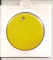 TOKEN JETON  YUGOSLAVIA  ( Vojni Restoran Military Canteen - Yellow ) - Tokens & Medals