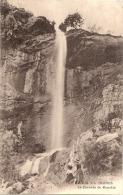 THÔNES (74) - La Cascade De Morette (hauteur De 100 Mètres)    Timbrée TTB - Thônes