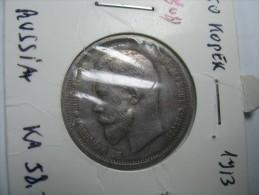 RUSSIA 50 KOPEKS KOPEEK HALF RUBBLE 1913 KEY DATE  SILVER LOT 9 - Russie