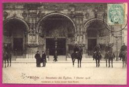 DIJON - Inventaire Des Eglises , 5 Février 1906 , Gendarmes Devant St Michel - L67 - Dijon