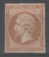 Napoléon III  N° 13B (Variété, Tache Devant Le Visage) Avec Oblitération Losange Lettre G  TB - 1853-1860 Napoléon III