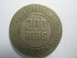 BRAZIL BRASIL 200 REIS 1929 - Brésil