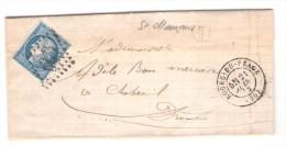 GC  563  De Bourg-de-Péage Sur Lettre Avec Boîte H/2,  Drôme - Storia Postale