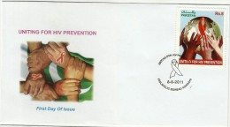 PAKISTAN MNH 2011 FDC FIRST DAY COVER UNITING FOR HIV PREVENTION - Pakistan