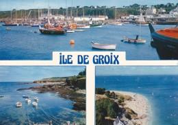 Ao - CPM ILE De GROIX - Port Tudy - Petite Crique Et Vue Sur Port Mélite - Les Grands Sables - Groix