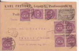 25-Germania Reich-1923-100m.(x8)+1000m. Con Annulli Censura B19+C32 - Briefe U. Dokumente