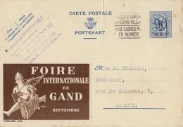 PUBLIBEL 1102°: ( FOIRE INTERNATIONALE De GAND ) :  JAARBEURS,FOIRE INTERNATIONALE,TRADE FAIR, - Stamped Stationery